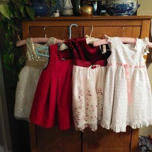 A Bundle Of 4 Beautiful Little Girls 4T Dresses